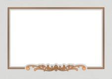 Kupferner Rahmen der Weinlese Stockfotografie