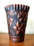 Kupferner Vase Stockfotos