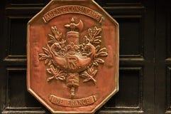 Kupfernes französisches Wappen Lizenzfreie Stockfotos