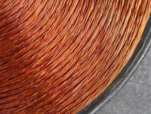 Kupfernes Induktormetall Stockfoto