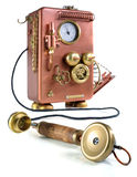 Kupfernes Telefon. Lizenzfreie Stockfotos