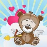 Kupidon Teddy Bear Arkivbild