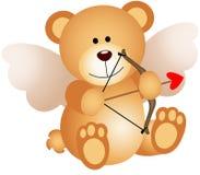 Kupidon Teddy Bear stock illustrationer