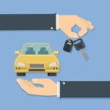 Kupienie samochodu pojęcie ilustracja wektor