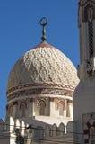 Kupol av Abu El-Abbas El-Morsi Mosque, Alexandria, Egypten Fotografering för Bildbyråer