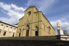 Kupol av Arezzo, Italien Arkivfoton