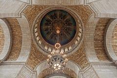 Kupol av byggnad för Nebraska statKapitolium Arkivfoton