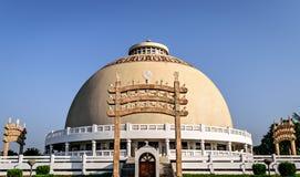Kupol av Deekshabhoomi i Nagpur, Indien Arkivbilder