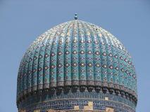 Kupol av den Bibi-Khanym moskén i Samarkand royaltyfri bild