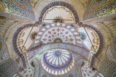 Kupol av den blåa moskén i Istanbul Arkivbilder