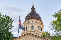 Kupol av den Kansas huvudstadbyggnaden fotografering för bildbyråer