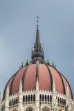Kupol av den ungerska parlamentet Royaltyfri Bild