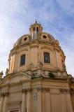 Kupol av det kyrkliga helgedomnamnet av Mary i Rome Royaltyfria Foton
