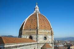 Kupol av domkyrkan Santa Maria del Fiore Duomo, Florence Arkivbilder