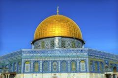 Kupol av för moskétempel för vagga den islamiska monteringen Jerusalem Israel Royaltyfri Fotografi