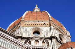 Kupol av Florence Cathedral, Florence, Italien Arkivfoton