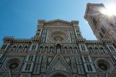 Kupol av Florence, Tuscany Arkivbilder