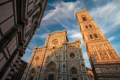 Kupol av Florence, Tuscany Italien Arkivbilder