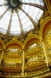 Kupol av Galeries Lafayette Arkivfoton