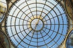 Kupol av Galleria Vittorio Emanuele II i Milan Royaltyfri Fotografi