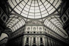 Kupol av Galleria Vittorio Emanuele II, Milan Royaltyfri Bild