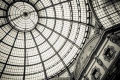 Kupol av Galleria Vittorio Emanuele II, Milan Royaltyfria Foton