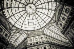 Kupol av Galleria Vittorio Emanuele II, Milan Royaltyfri Foto
