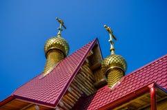 Kupol av kyrkan Arkivfoto