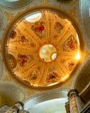 Kupol av kyrkliga Frauenkirche i Dresen - Tyskland Arkivbilder
