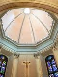 Kupol av kyrkliga San Gottardo i Corte i Milan royaltyfria foton