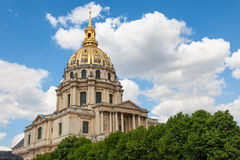 Kupol av Les Invalides france paris Arkivfoto