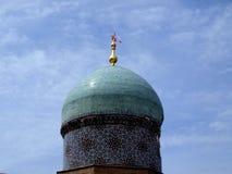 Kupol av madrasah Kukeldash Arkivfoto