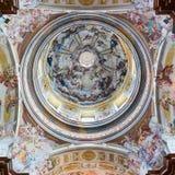 Kupol av Melk Abbey Church, Österrike Royaltyfri Bild
