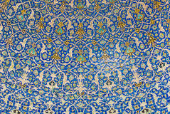 Kupol av moskén, orientaliska prydnadar, Isfahan arkivfoton