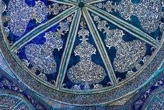 Kupol av moskén, orientaliska prydnader från Bukhara, Uzbekistan Arkivbild