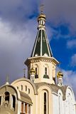 Kupol av templet av den stora martyren Tatiana. Kaliningrad Ryssland arkivfoto