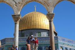 Kupol av vagga - tempelmontering - Jerusalem - Israel arkivbilder