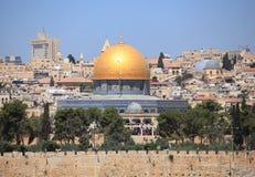Kupol av vaggafredagsbönen, Jerusalem Arkivfoto