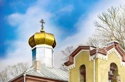 Kupol för ortodox kyrka i Anyksciai royaltyfri bild