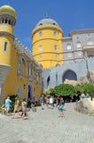 Kupol för Pena slotttorn, Sintra, Portugal Arkivbilder