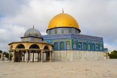 kupol guld- jerusalem royaltyfria foton
