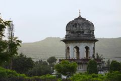 Kupol i den Bibi kaen Maqbara, Aurangabad, Maharashtra, Indien royaltyfria bilder
