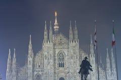 Kupol i Milan, Italien Arkivbilder