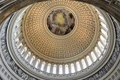 Kupol inom av USA-Kapitolium, Washington DC arkivfoton