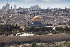 kupol jerusalem Arkivbilder