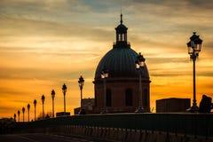 kupol Kapell av Sjukhus de La Grav toulouse france royaltyfria foton
