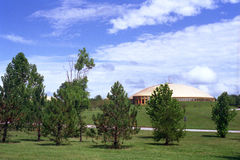 Kupol - Maharishi universitet av ledning Arkivfoto