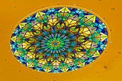Kupol med målat glassdesign Arkivbild