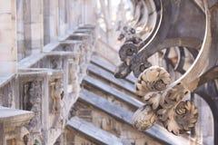 Kupol Milan, Italien Royaltyfri Foto