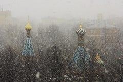 Kupol och snö Royaltyfri Fotografi